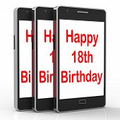 Happy 18Th Birthday On Phone Means Eighteen