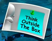 Think Outside The Box Photo Means Different Unconventional Thinking