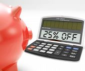 Twenty-five Percent Off Calculator Means Savings