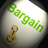 Bargains Switch Shows Discount Promotion Or Markdown