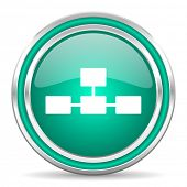 database green glossy web icon