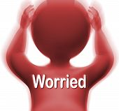 Worried Man Means Anxious Fearful Or Concerned