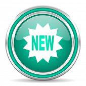 new green glossy web icon