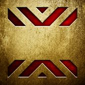 metal background with X pattern