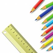 Ruler And Pencils