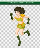 Illustration of a female superhero running