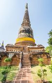 Pagoda at Wat Yai Chaimongkol, Ayuthaya,Thailand