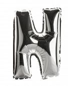 Chrome silver balloon font part of full set upper case letters,N