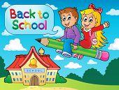 School kids theme image 6 - eps10 vector illustration.