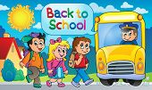 Image with school bus topic 5 - eps10 vector illustration.