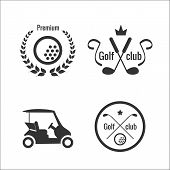 Golf icons and labels