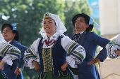 ZAGREB, CROATIA - JULY 18: Folk group Selkirk, Manitoba, Ukrainian Dance Ensemble Troyanda from Cana