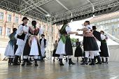 ZAGREB, CROATIA - JULY 20: Members of folk groups from Sveta Marija, Croatia during the 48th Interna