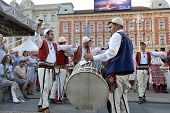 ZAGREB, CROATIA - JULY 19:Members of folk group Albanian Culture Society Jahi Hasani from Cegrane, M