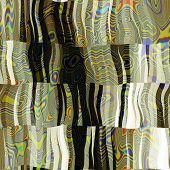 art abstract colorful chaotic waves seamless pattern in Klimt style; background in white, green, yel