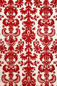 Red Flock Wallpaper Pattern