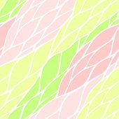 Seamless pattern with colorful hand drawn abstract ornament