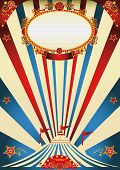 circus vintage. A vintage circus poster with sunbeams for your advertising