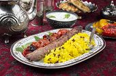 kabab-e-koobideh with sereshk polo