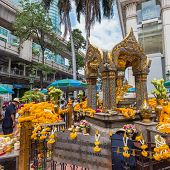 The Erawan Shrine in Bangkok