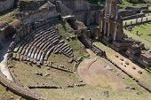 Old Romans Theater In Volterra