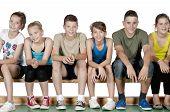 Athlete Teens Sitting
