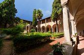 St. Agostino Cloister - San Gimignano Italy