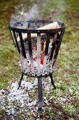 Burning Fire Basket