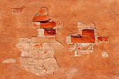 stock photo of mortar-joint  - Detail of a stone wall of an old house - JPG
