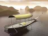 River boat - 3D render