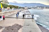Yalta. Evening. Beach
