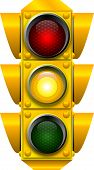 stock photo of traffic signal  - raster graphic depicting a traffic light  - JPG