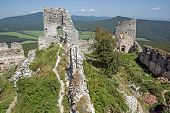 Ruins Of The Castle Gymes In Slovakia