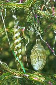 Vintage Icicle And Cone Christmas Decoration