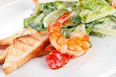 shrimps with vegetables