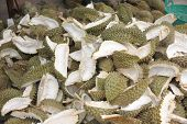 Peel Durian Fruit.