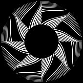 Abstract rotation design element. Vector art.