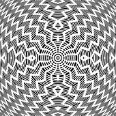 Abstract op art pattern. Vector art.