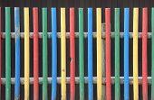 Kindergarten Fence In Vivid Colors
