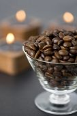 Roasted Coffee Beans And Candles
