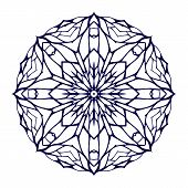 Round kaleidoscopic lace ornamental background
