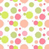 Seamless pattern with painted splash texture