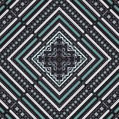3D Grey Green Rhomb Pattern