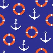 picture of lifeline  - anchors seamless pattern background for website - JPG