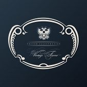 Vector vintage frame with ornament. Arms eagle