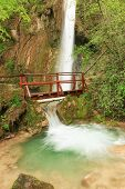 Freshness Of A Waterfall In The Natural Environment