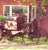 old vintage tractor