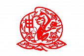 Chinese folk paper-cut - Zodiac Monkeys