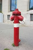 Fire Hydrant With Two Hose Outlets On An Urban Street