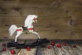 picture of wooden horse  - Vintage  - JPG